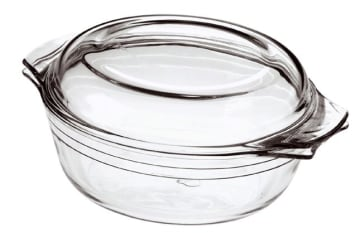 Form m/lokk glass 1,2L 250x205mmPyrex
