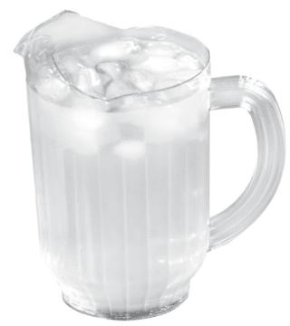 Vannmugge i plast 1,4 liter