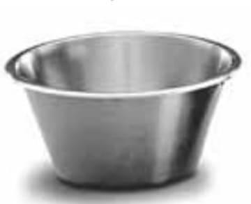 Kjøkkenbolle i rustfr stål 6 liter