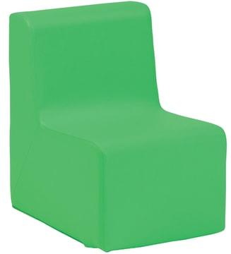 Leza skummøbel, enseter. Mørk grønn.