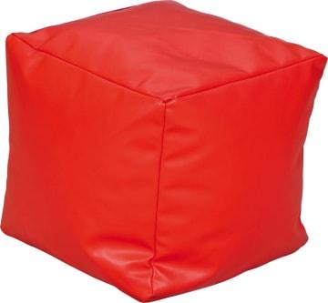 Liten Puff, rød 40x40x40