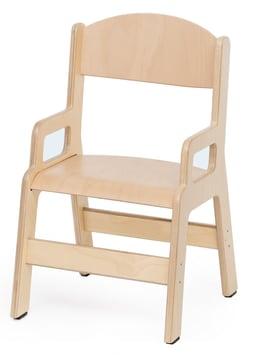 Barnestol i kryssfiner m/armlene, 21 cm