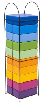 Sitteputer firkantet, 10 stk ass. farge