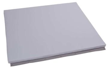Beskyttelsesmadrass for vegg, grå