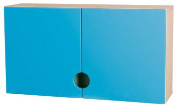 Bleieskap m/blå dører