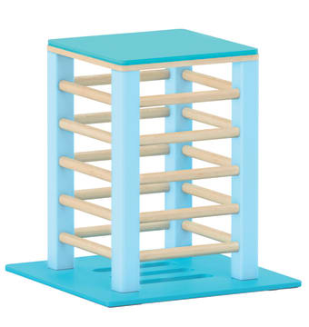 Liten plattform til sansemotorisk benk, blå