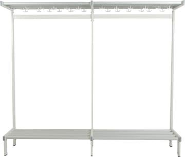Garderobestativ startfag  i lakkert stål, enkelt