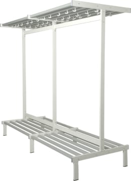 Garderobestativ startfag  i lakkert stål, dobbelt