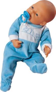 Pyjamas, blå til dukke 45 cm