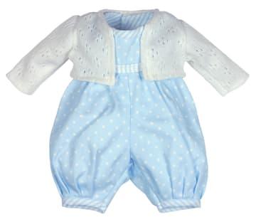 Sparkebukse og jakke til guttedukke 45 cm