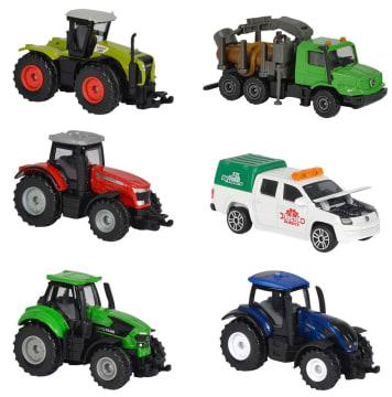 Majorette gårdskjøretøy/traktorer, 6 stk. ass.