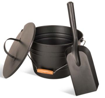 Askebøtte med lokk og spade