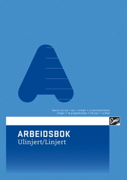 Arbeidsbok EMO A4 80g 24bl ulin/lin16lin (20 pk)