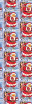 Gavepapir, B: 50 cm,  70 g, julenisse på ski, 150m