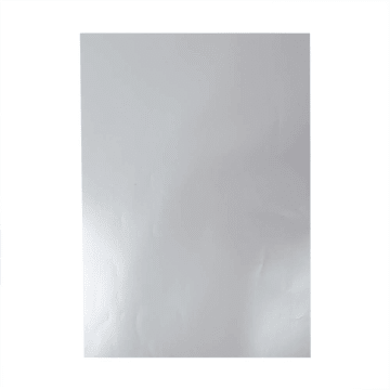 Glanspapir, ark 32x48cm, 80 g, 25 ark, sølv