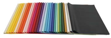 UTSOLGT Silkepapir - 50x70cm, 14 g, 300 ass.ark, ass. farger