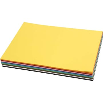 Creativ kartong, A4. 180 g, 120 ark ass farger