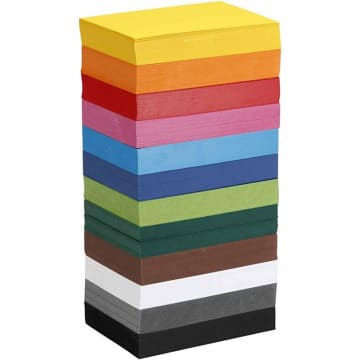 Creativ kartong, A6. 180 g, 1200 ark ass farger