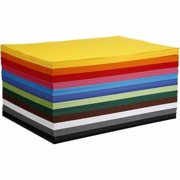 Creativ kartong, A2. 180 g, 120 ark ass farger