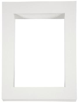 Passepartoutrammer, A-4, 100stk, hvit 500g