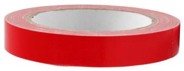 Lerretstape, 19mm x  25 m, rød
