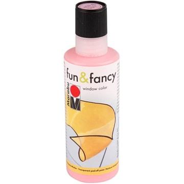 Vindusmaling Fun & Fancy, 80 ml, lys rosa