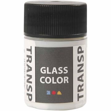 Glass Color Transparent, 35 ml, hvit
