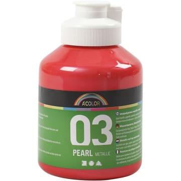 A-Color akrylmaling, 500 ml, rød metallic