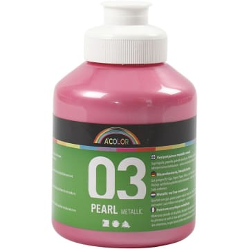 A-Color akrylmaling, 500 ml, lys rosa metallic