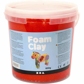 Foam Clay, 560 g, rød