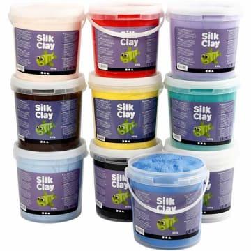 Silk Clay, 10x650 g, ass. farger
