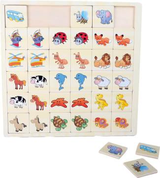 Memoryspill kjøretøy og dyr, 36 deler