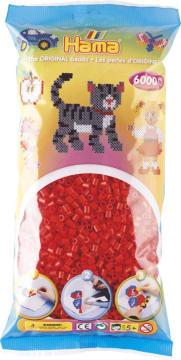 Hama rød 6000stk