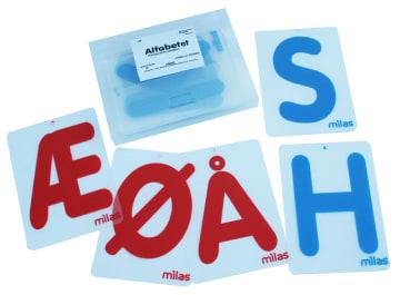 Alfabetet, transparente plastkort. 29 stk.