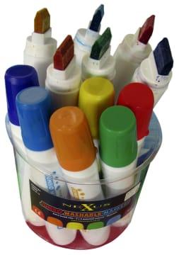 Nexus Jumbo tusjer, vaskbare, sett med 2x6 farger