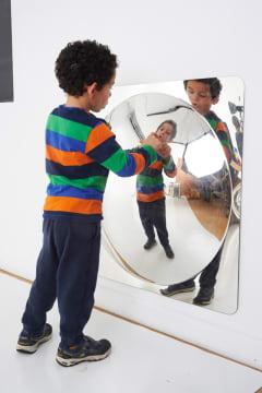 Akrylspeil, konveks. 78 x 78 cm
