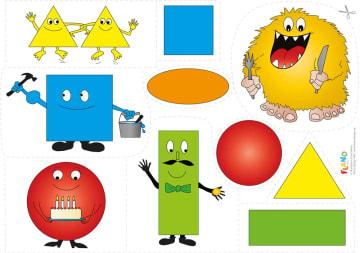 Farger og former, flanobilder