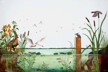 Læringsmotiv, Innsjø  (180 x 120 cm)