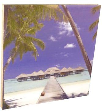 DecoDemp Frameless med trykk, 120 x 120 cm.