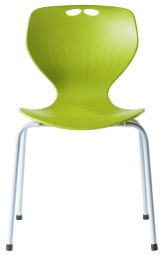 Rio stol, grønn m/grått understell. Sittehøyde 45 cm