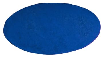 Rundt teppe, blått, Ø2 m.