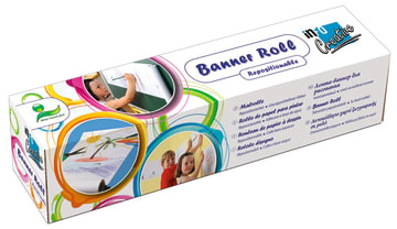 Banner roll. selvklebende tegnepapir, 30 cm.x 12 m. 6 stk