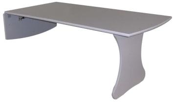 Vegghengt bord, 120 cm, bordhøyde: 57 cm.