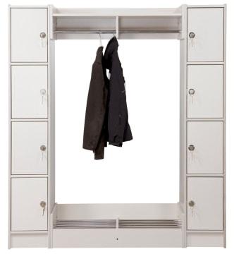 Duno personalsøyle - 3 rum og rukolås 183 cm