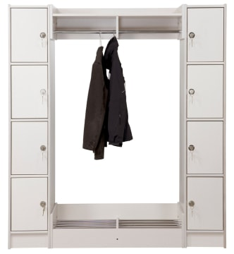 Duno personalsøyle - 4 rum og rukolås 183 cm