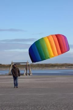 Fallskjermsdrage 120 cm. Basic - fra ca. 8 år.