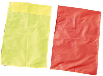 Flagg til hjørnestolpe gul  60x40 cm.
