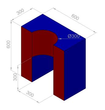 Kombi skål 60x60x30 cm.  PU-25KG