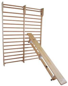 Gymnastikkbenk til trening  250 cm, hylser til utstyr