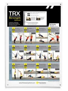 TRX Poster - Advanced strength  Øvelsesplakat
